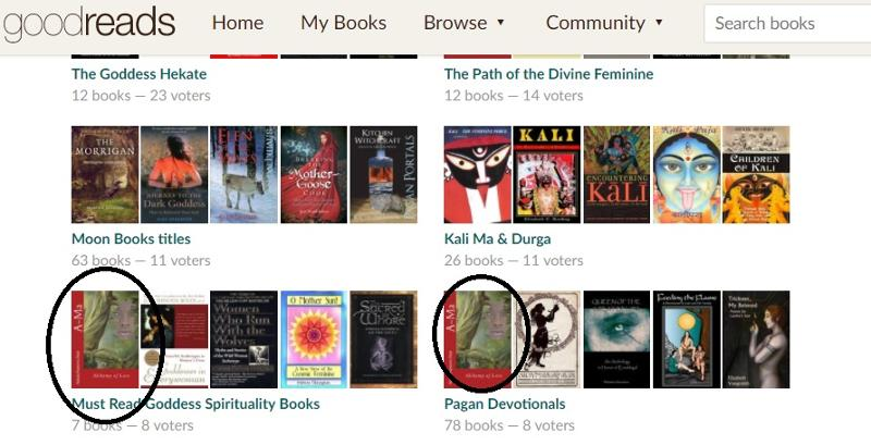 must read Goddess Spirituality Books List goodreads with Ama Alchemy of Love by Natasa Pantovic Nuit